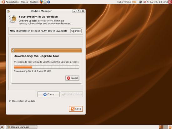 Ubuntu 8.04 - Подготовка к обновлению