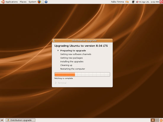 Upgrade up to Ubuntu 8.04