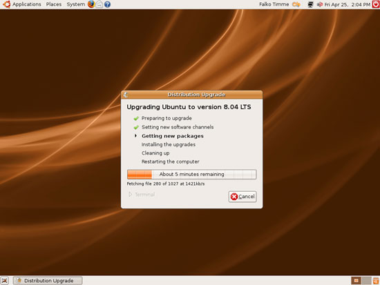 Ubuntu 8.04 - Загрузка пакетов