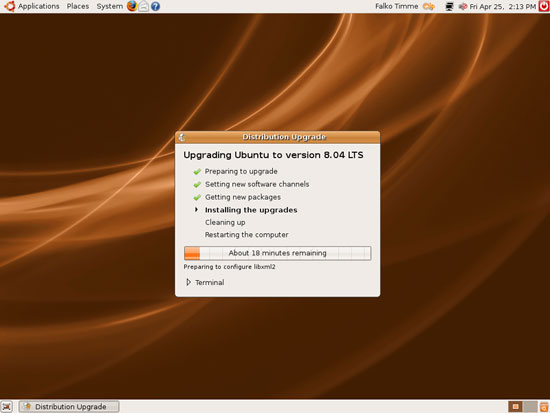 Ubuntu 8.04 - Установка пакетов