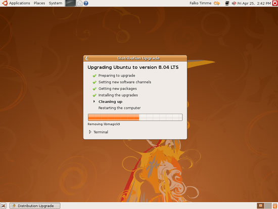 Ubuntu 8.04 - очистка