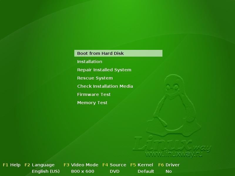 Установка Linux openSUSE 11.0