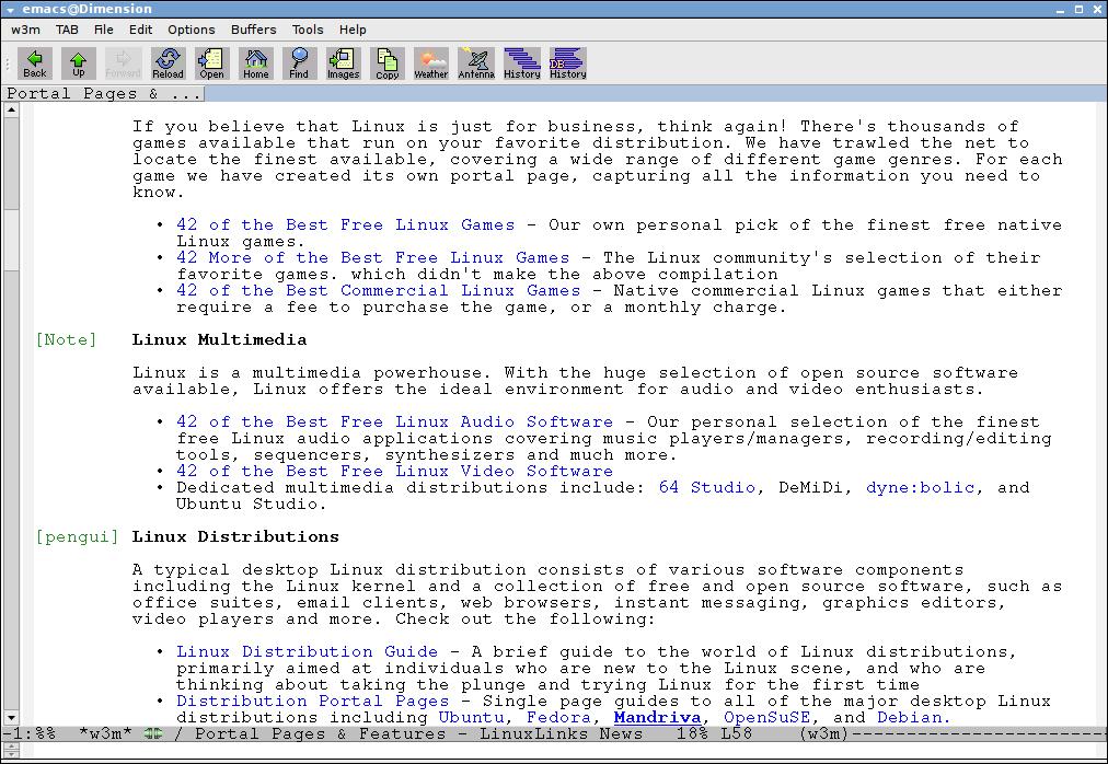 Emacs в Linux