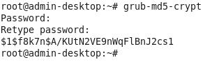 Зашифрованный пароль GRUB