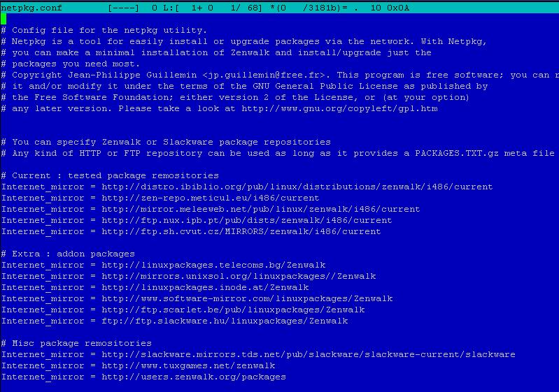 конфигурационный файл netpkg