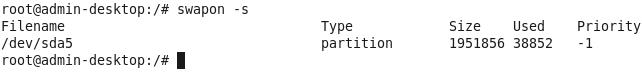 просмотр информации о swap в linux