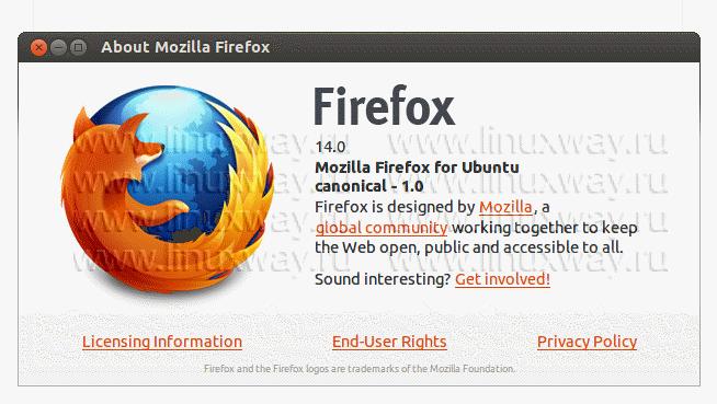 Firefox 14 в Ubuntu 12.04 Precise Pangolin