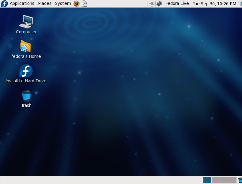 Linux Fedora 10 Beta screenshot