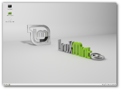 Рабочий стол Linux Mint 14 MATE